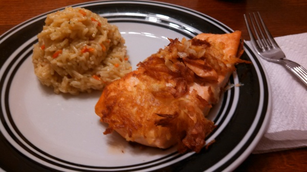 potatoe salmon with rice